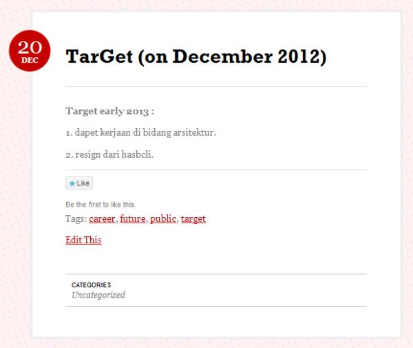 target dec 2012