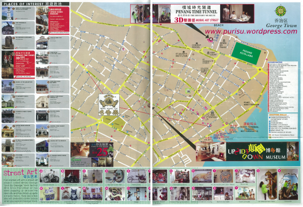 Penang Street Arts Map