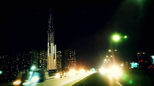 Landmark 91 from highway